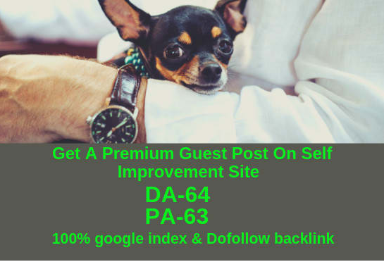 Offering A Guest Post On DA 64 & PA 63 Blog With Dofollow And 100% Index From Google