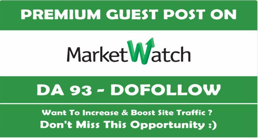 Write & Publish Guest Post On Marketwatch DA93 Blog