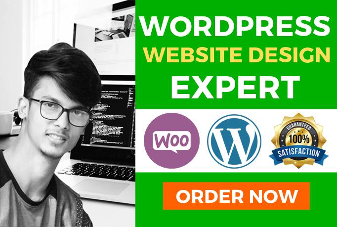 Build Responsive Wordpress Website Design & blog