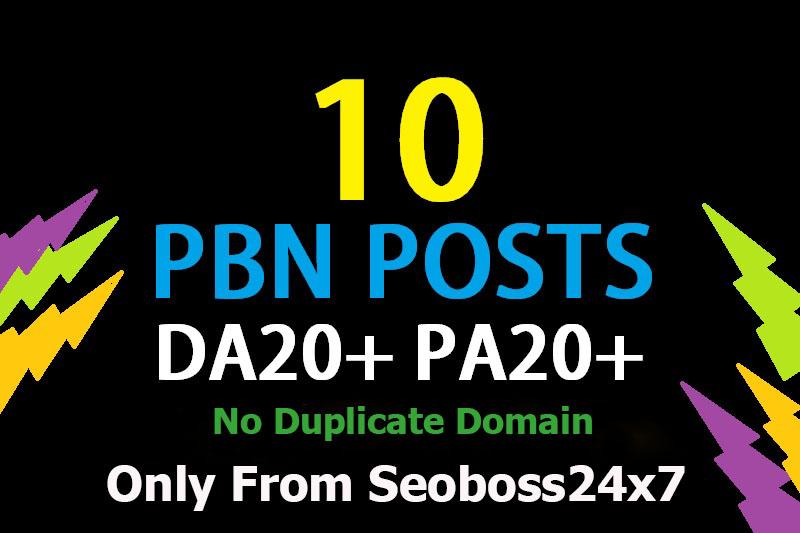 I Will Do Manual 10+ PBN Links - DA 20+ and TF 20+