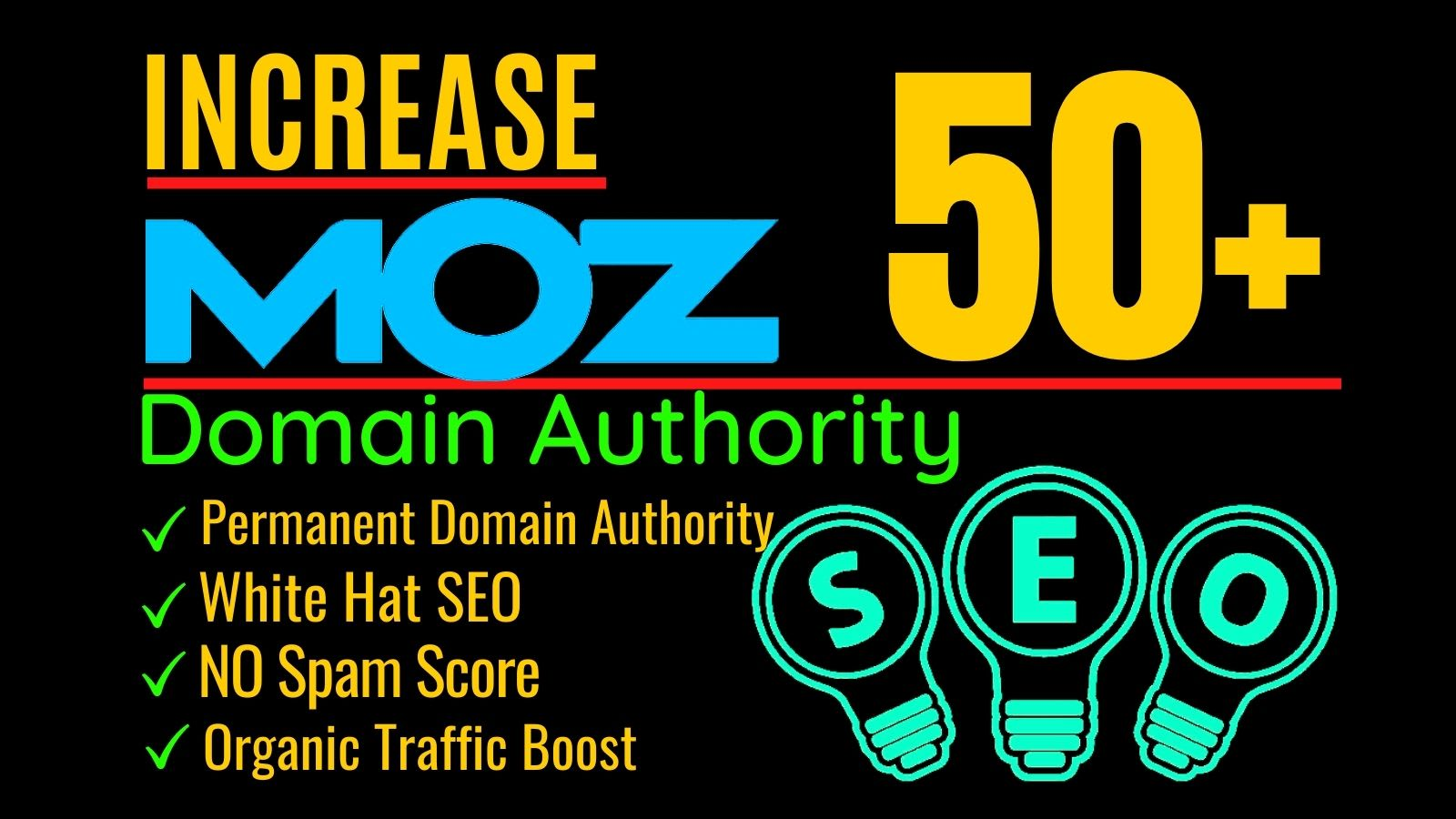 Guaranteed- Increase your MOZ DA 50+ and PA 30+ with White Hat SEO in 10 Days- Moneyback Guaranteed