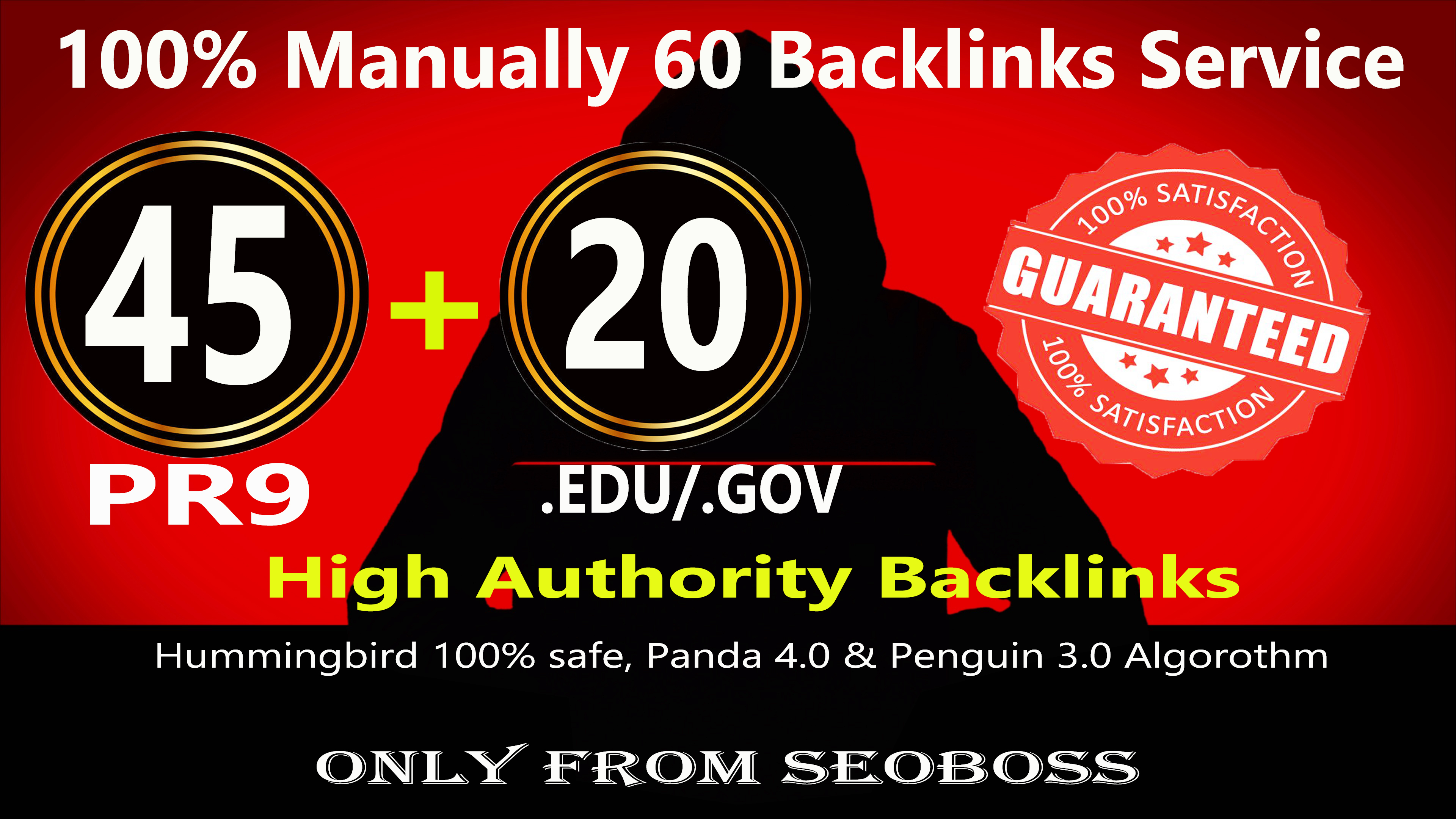 Fire your google Ranking with 45 Pr9+ 20 Edu/Gov Safe seo Authority Backlinks