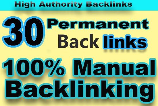 Provide 30 backlinks with high DA - PA 60 to 100