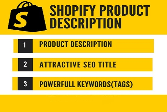 Get 60 Shopify Product Description Killer SEO Title and Tags