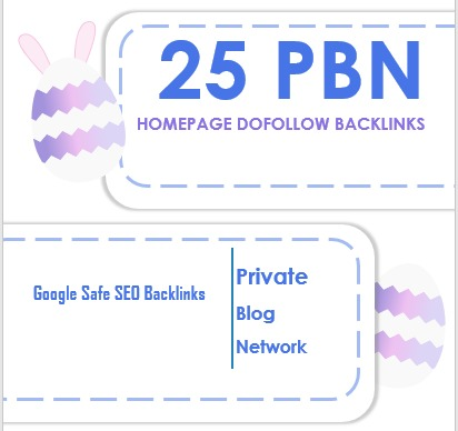 Get 25 home page do follow PBN backlink