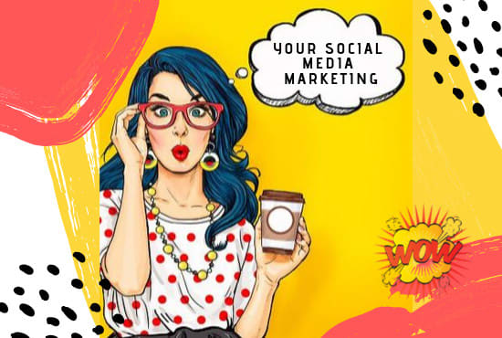 i will be your social media manager marketing with 1 post each day