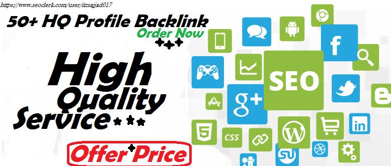 50+ High Quality Seo Profile Backlink