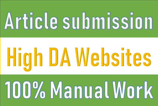 30 Article Submissions on High DA websites for SEO