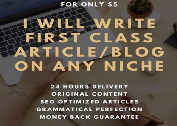 I will write first class article of 600 words on any niche