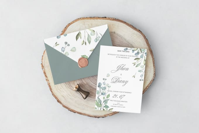 I will design a wedding card or invitation card for any event
