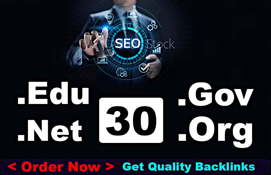 30 Edu Gov Dofollow and high pr9 Nofollow profile backlinks,  link building with 1 guest post