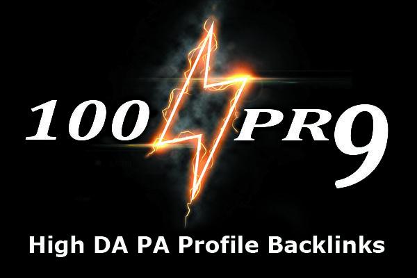 Create 100 High DA USA PR9 Profile Backlinks Manually