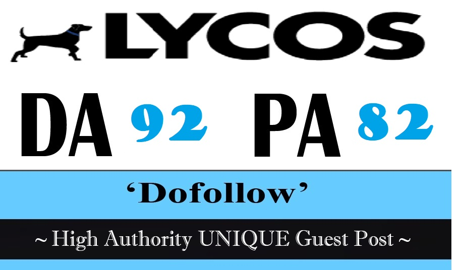 Publish Guest Post On Lycos. com DA 92 Get free Medium. com DA 96