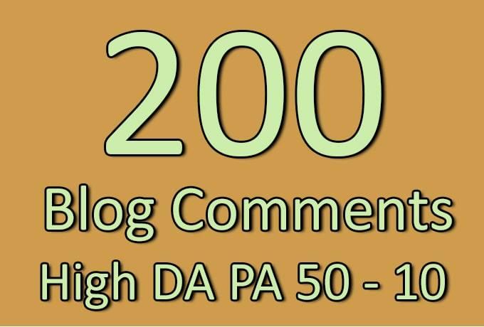 I will do 200 high trust flow citation flow blog comments