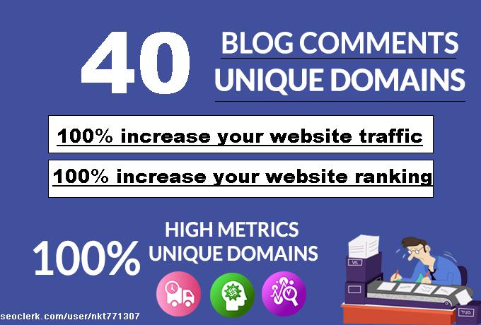 do 40 blog comments unique domains dofollow backlinks