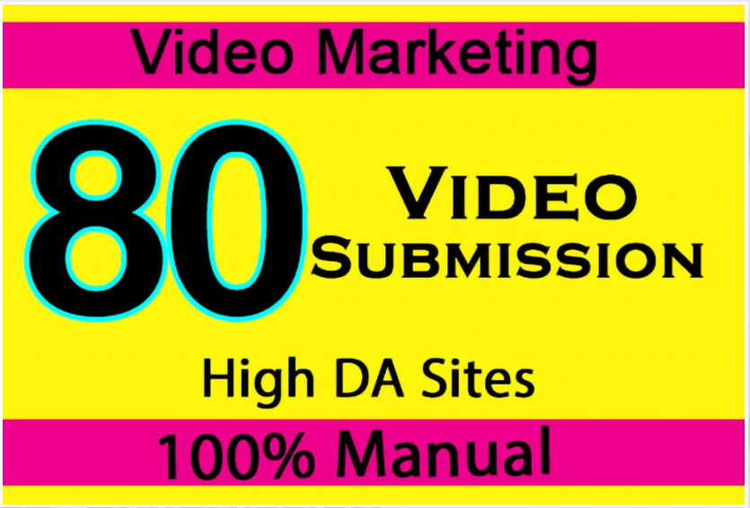 Upload Manual Video Submission On Top 60 Plus Video Sharing Sites