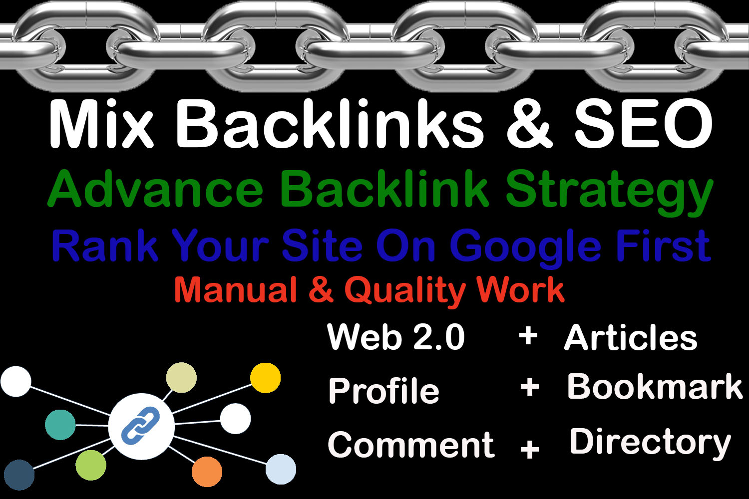 Create 50 Mix Backlinks For Ranking Of your Website With DA 50+ 100 Manually Only
