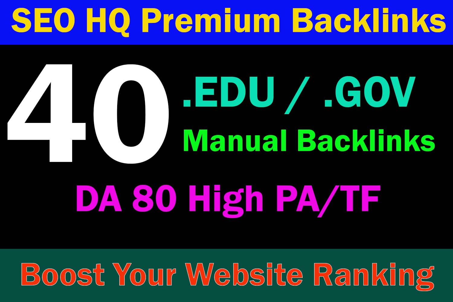 40 EDU/GOV High Authority Dofollow Backlinks To Top DA 80 Premium Sites - Boost website Ranking