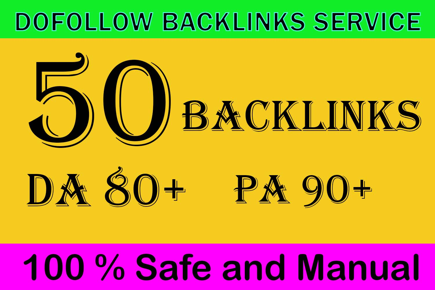 Get 50 backlinks High Authority DA 80+ To Rank Your website On google