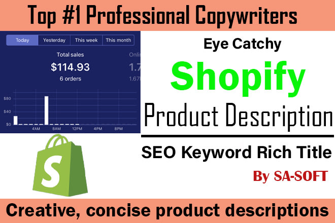 Write 20 Premium Product Description and SEO Friendly Title to Boost Your Conversion Rate Just for