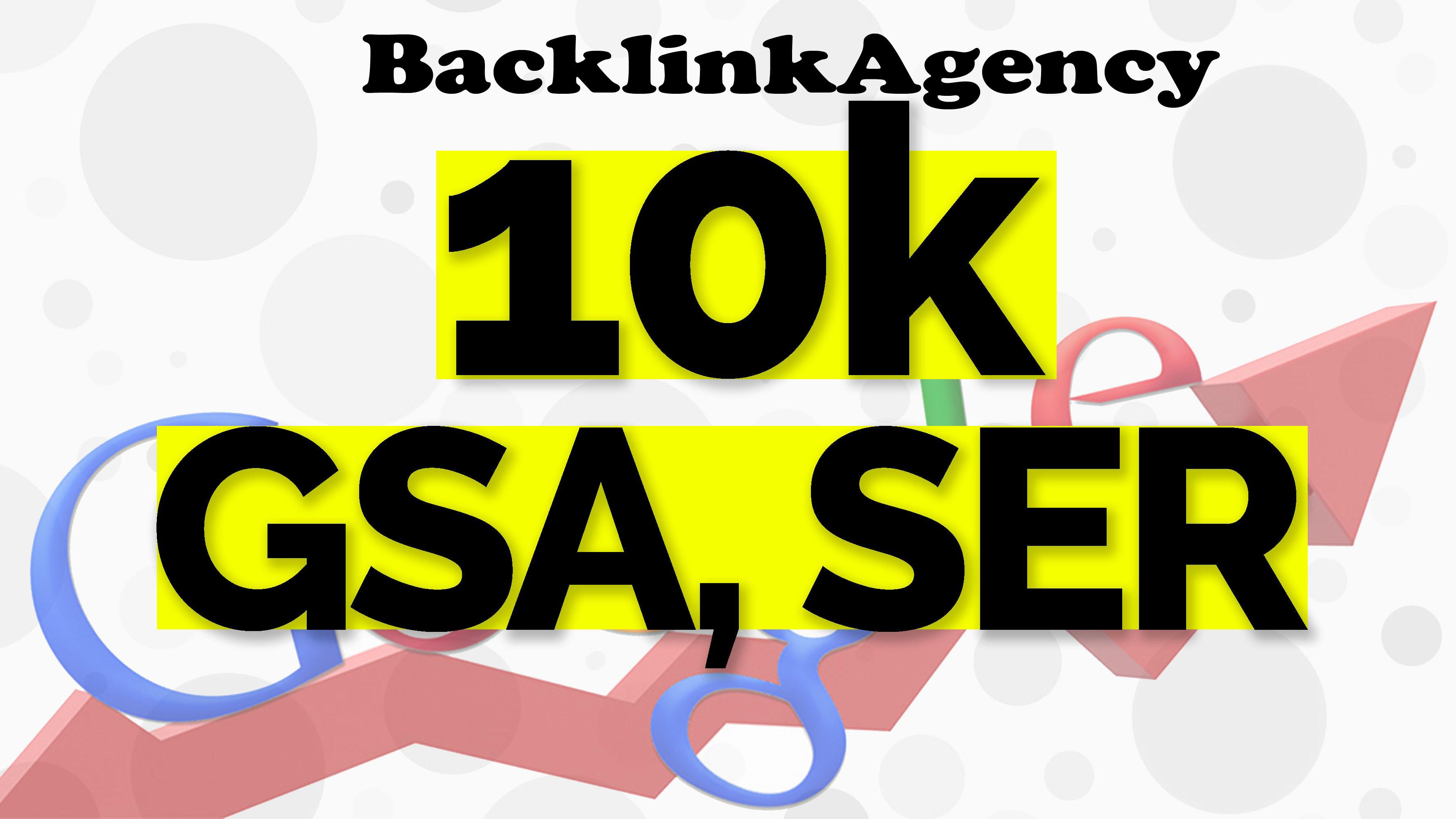 I will do 10,000 gsa ser backlinks for seo