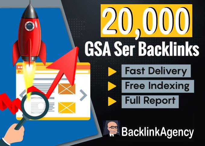 build 20,000 GSA SER Backlinks & GSA Blast