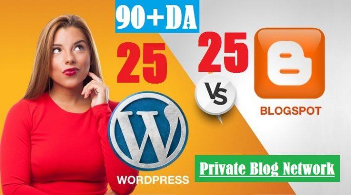 I will Manually Do-50 PBN POSTs Blogger and WordPress 90 High DA-PA