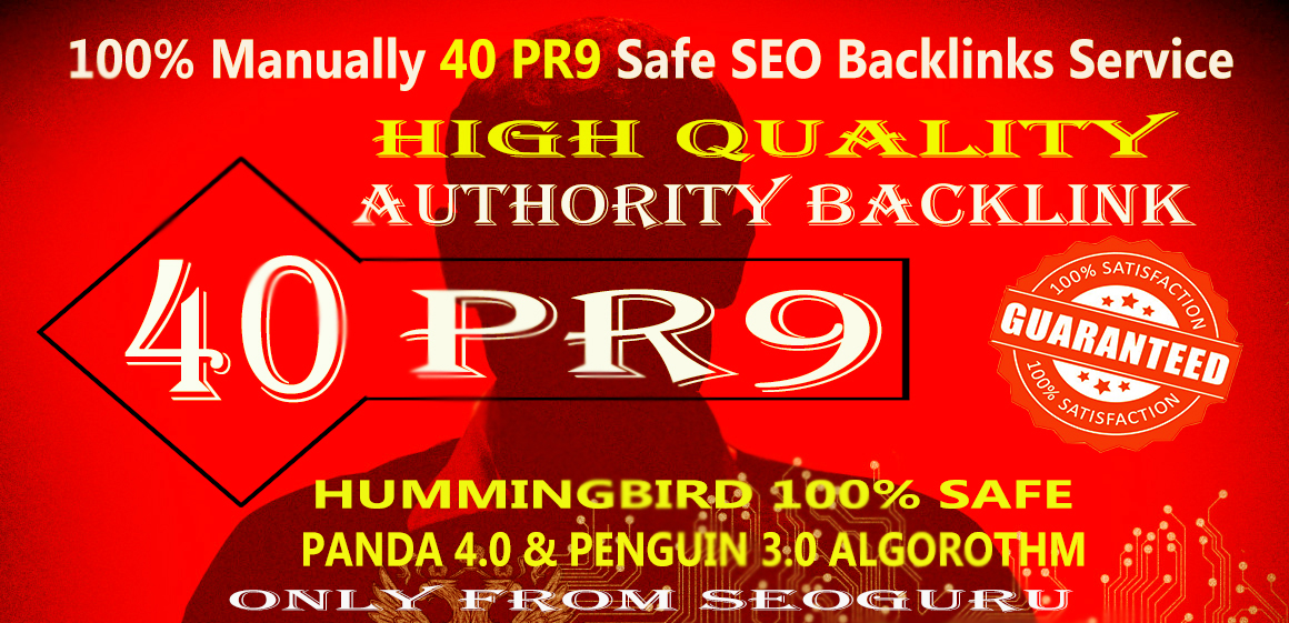 Manually Do 40 PR9-7 backlink From Authority Domins Safe SEO