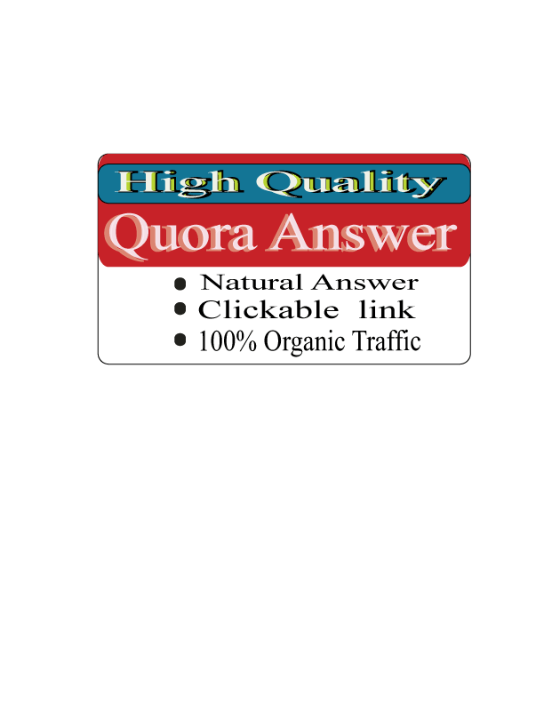 I'll do 20 Quora answer with 100 organic Traffic for promoted your website.