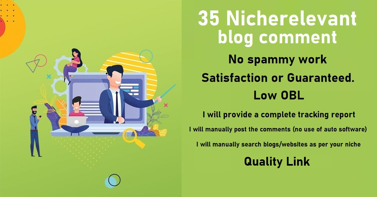 do 35 niche relevant blog comment quality link