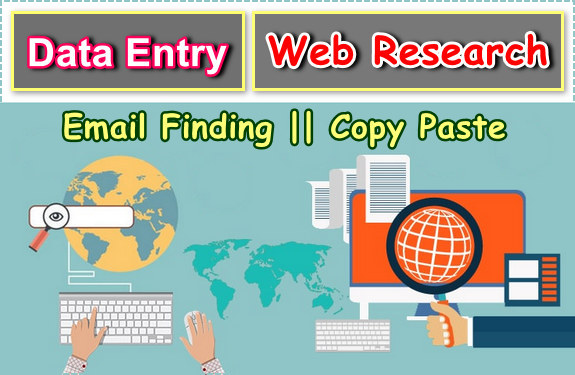 Web Research, Internet Research, Data Entry, Email Finding