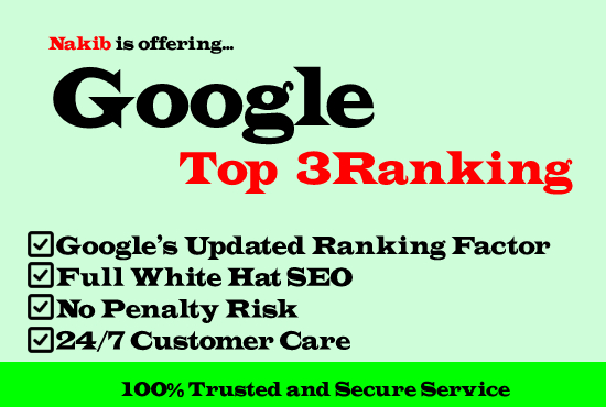 Google First Page Ranking With White Hat SEO
