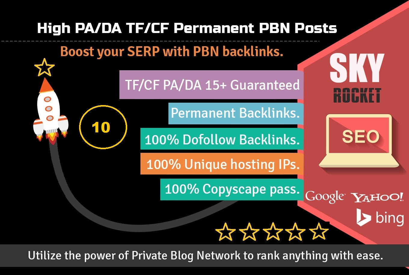 Create 30+ High PA/DA TF/CF Homepage Dofollow PBN Backlinks manually