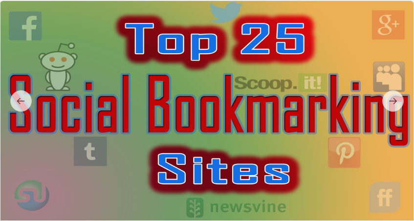 Create 25 Bookmarks in PR5 to PR9 social bookmarking sites