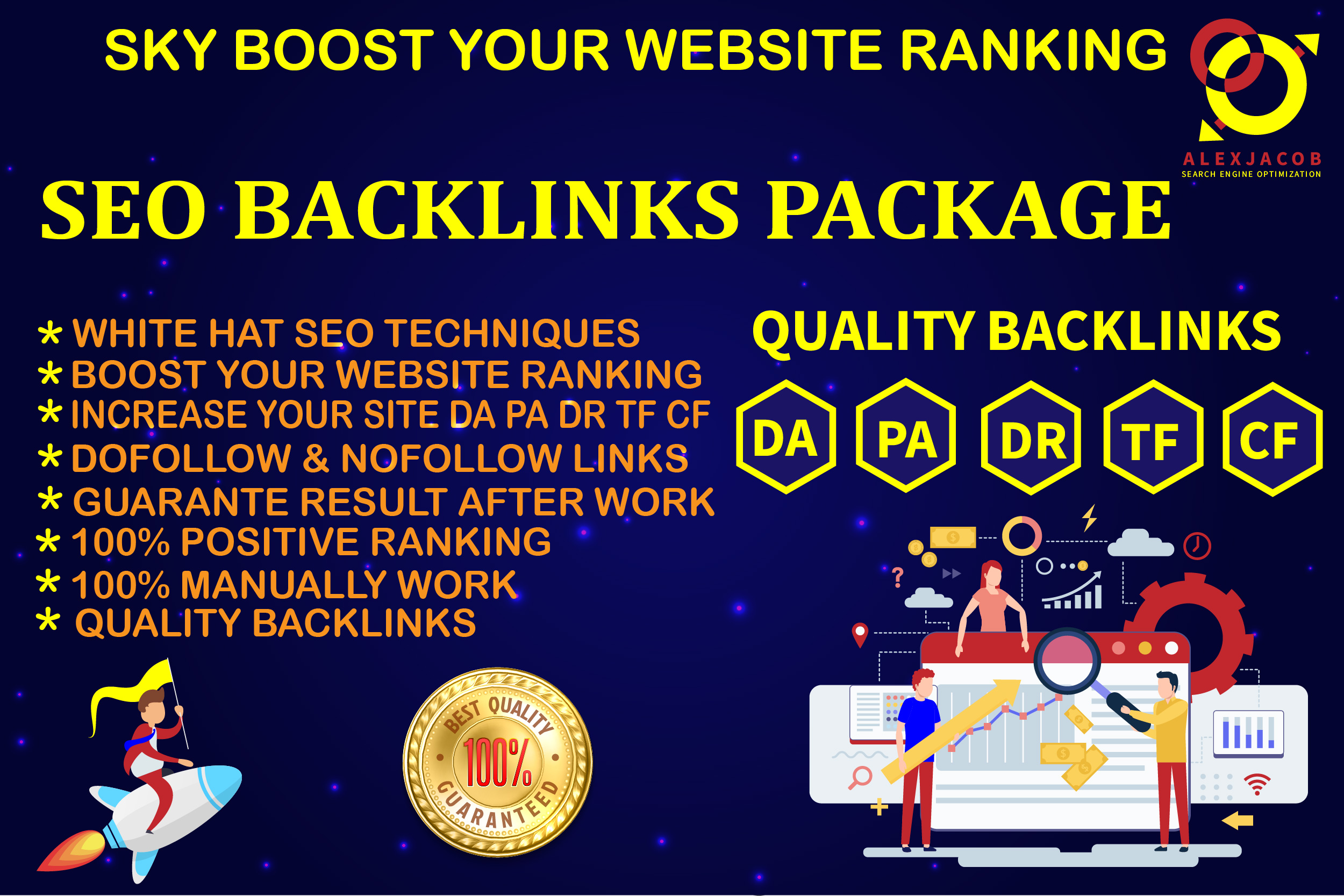 Sky Boost Your Website With High Quality SEO Permanent Monthly Backlinks Package
