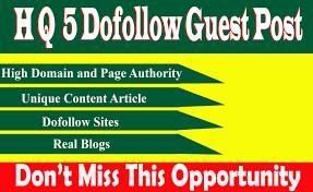 I will do 5 SEO backlinks through high da guest posts permanent links