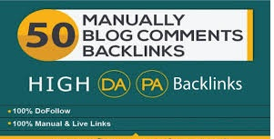 Create 50 high quality dofollow blog comments backlinks