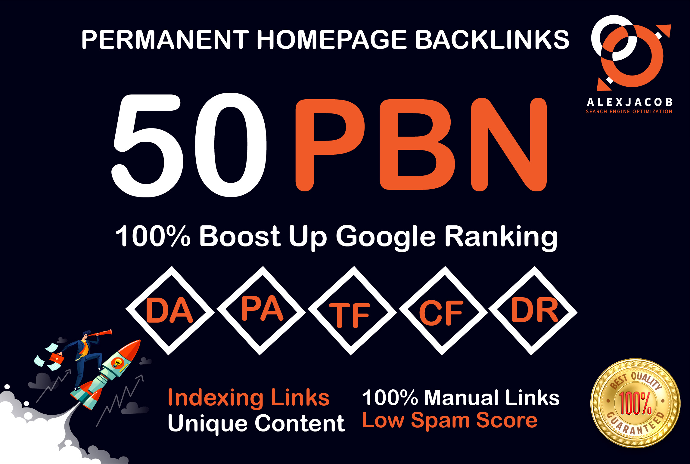 Create 50 PBN Powerfull SEO Permanent Dofollow Backlinks