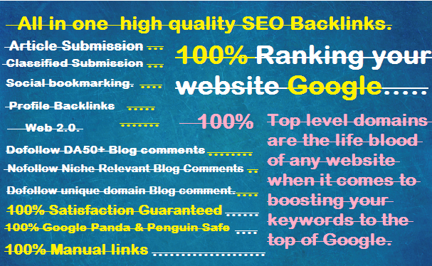 create 80 All in one off page high quality SEO backlinks