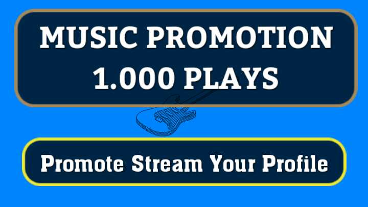 Instant Start 1,000 Real High Quality Music Streams Promotion
