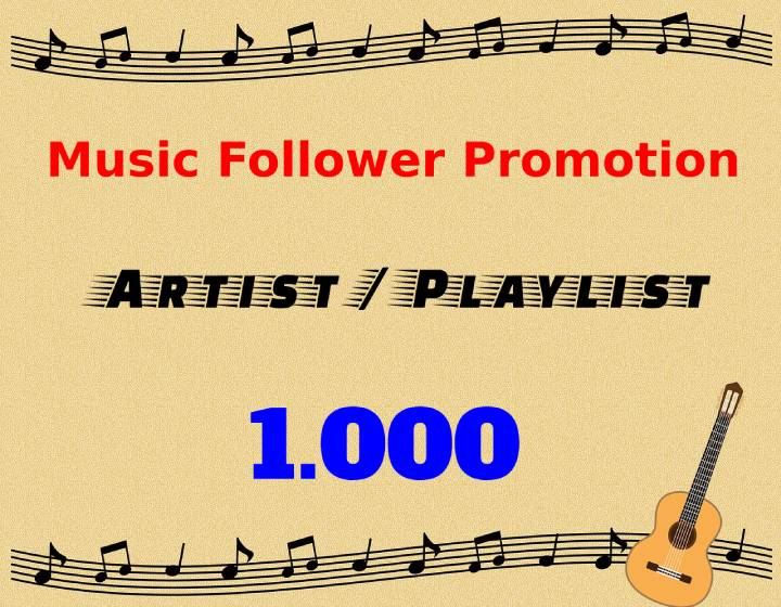 Best & Cheap 1000 Playlist Or Artist Real Profile Followers
