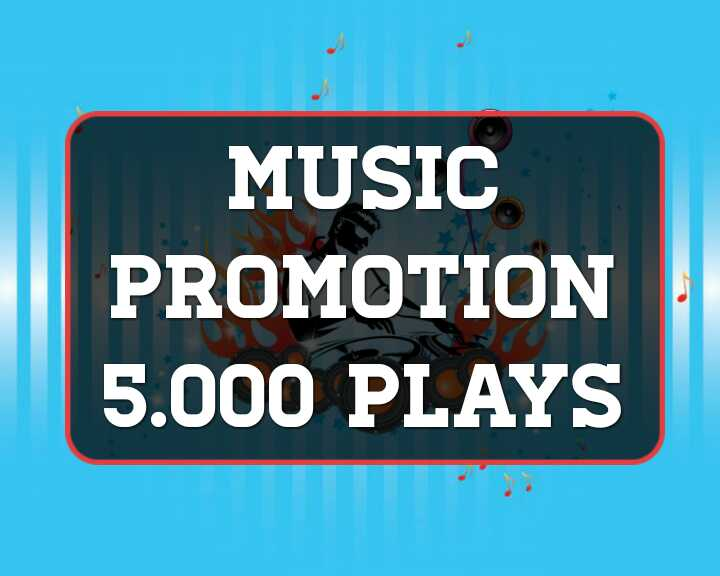 Music promotion Five Thousand High Quality Organic Track Streams