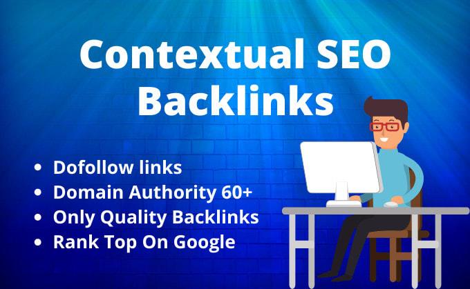 Manual High DA dofollow contextual SEO backlinks to rank website Higher on Google