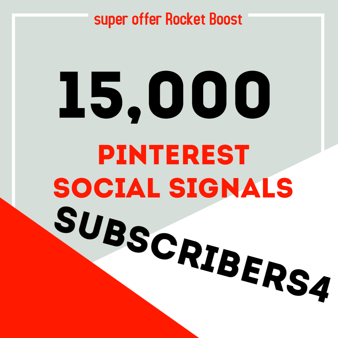 Rocket Delivery 15,000 Pinterest Share Social Signals Boost