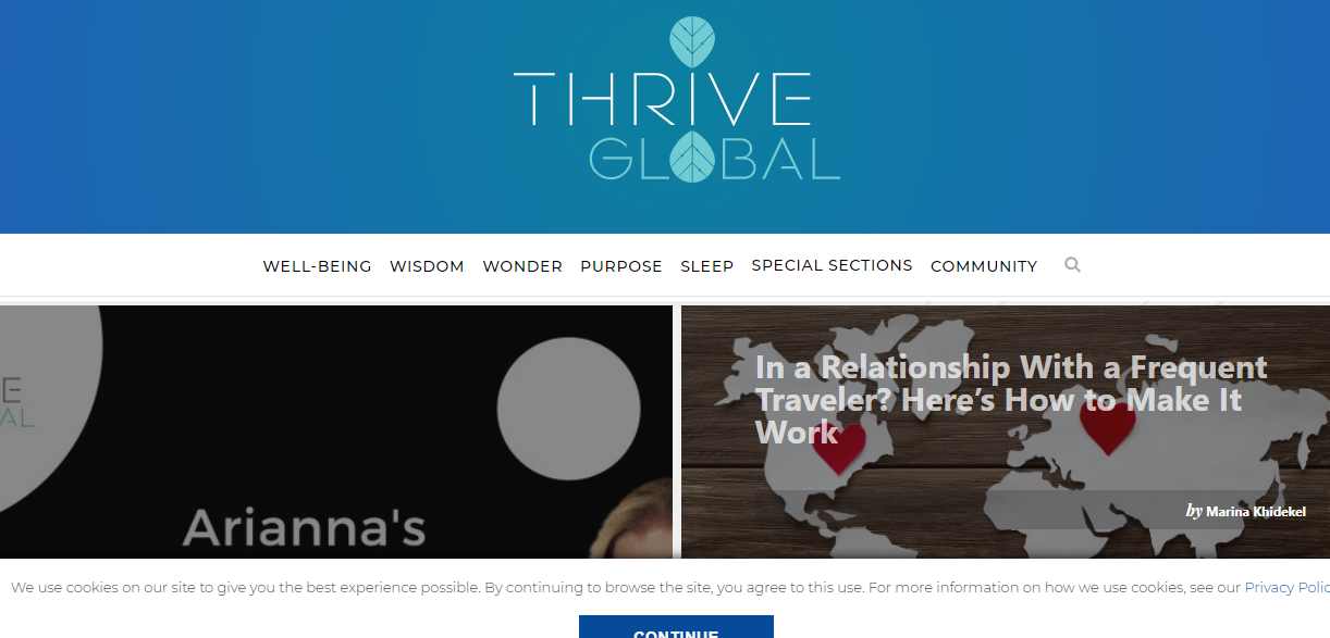 Write And Publish Guest Post On Thriveglobal Da 76 Blog