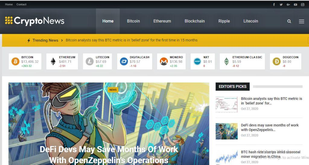 Established Crypto Website Update + Support Instant Delivery