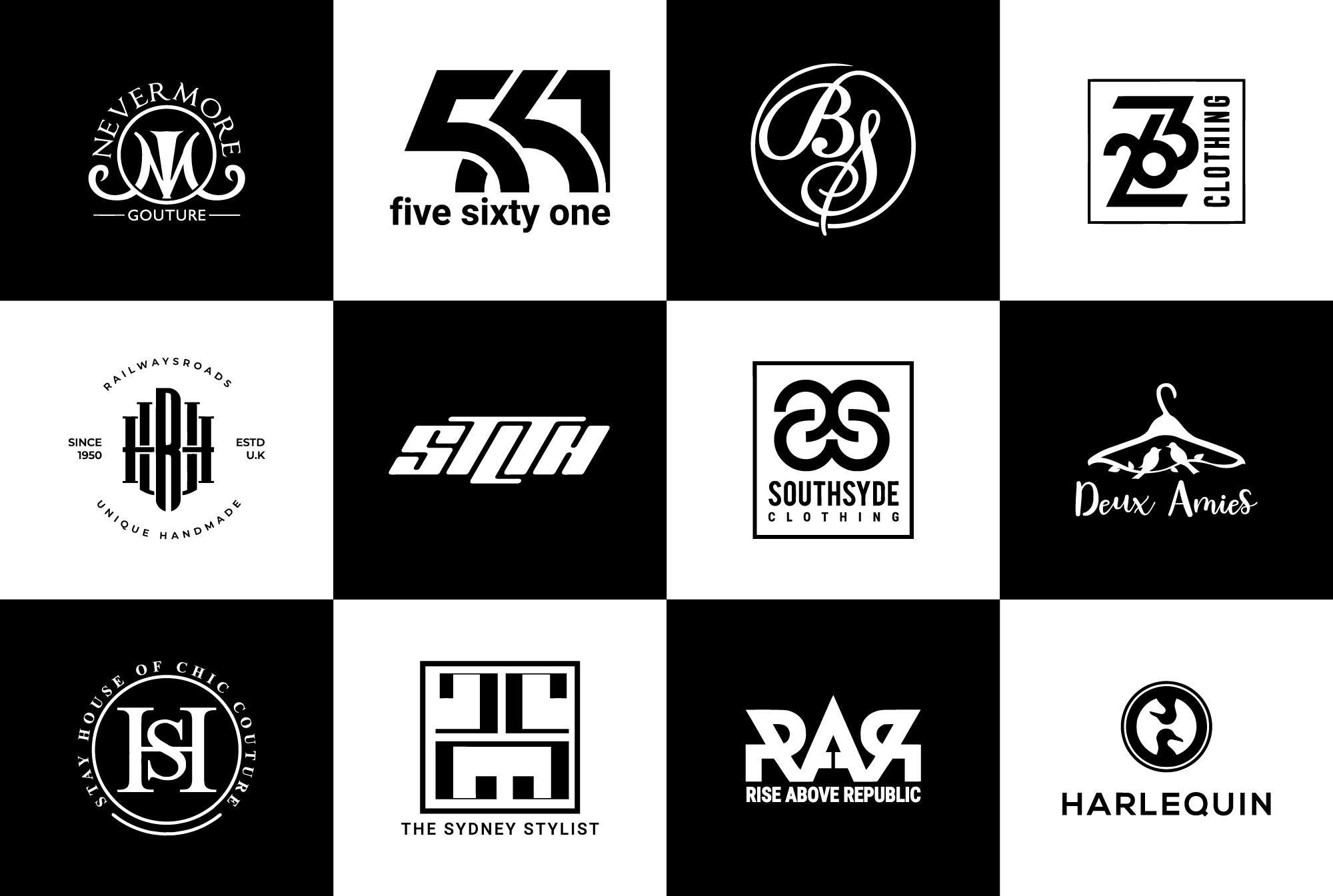Design fashion, clothing, initial, font logo