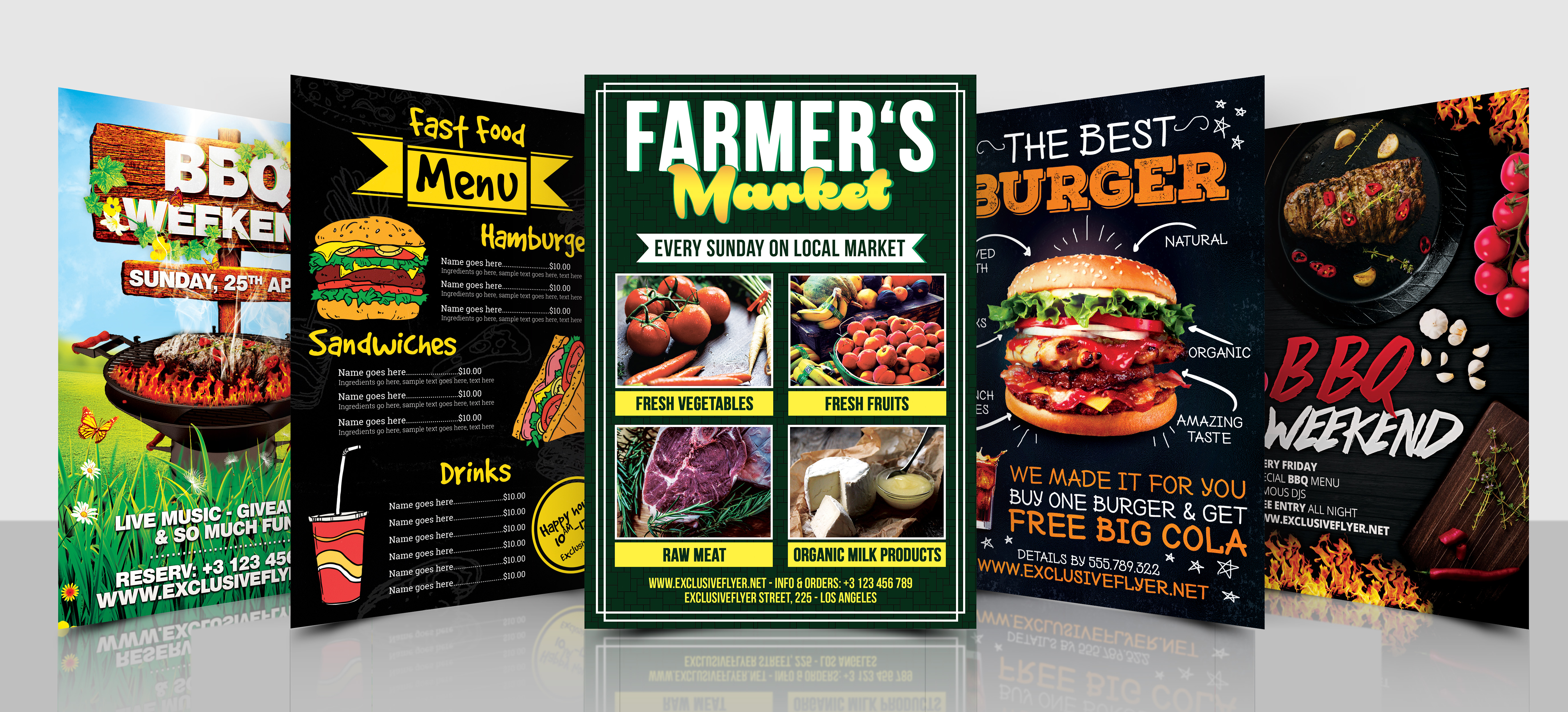 I Will Design An Amazing Flyer,  Food Menu Any Kind Of Service Menu for you