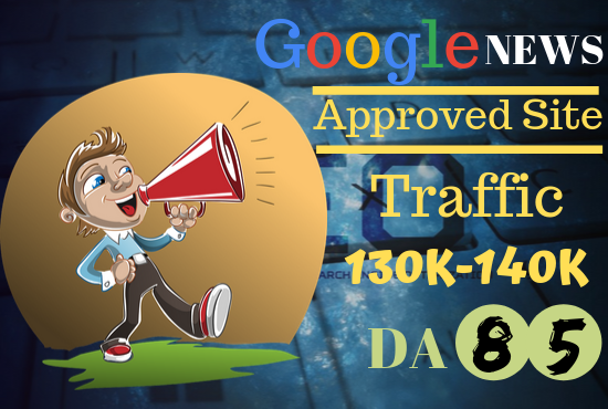 Publish on My Google News Website with 400k Traffic