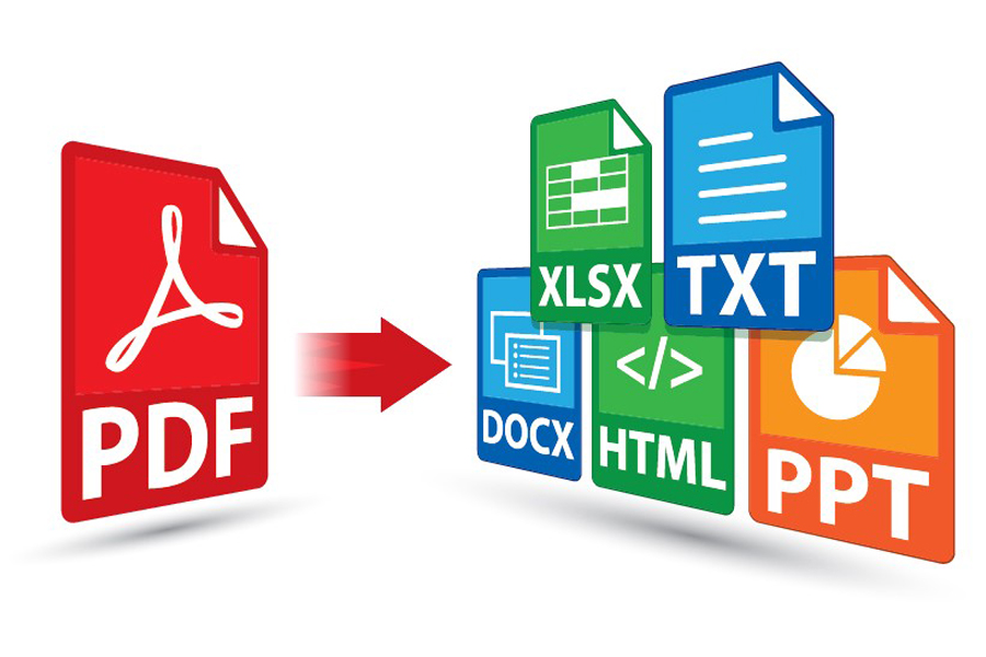 I will convert PDF file to to txt, doc, xls, html file